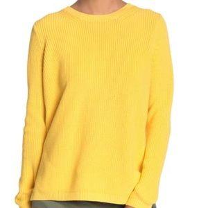 Emma Crew Neck Shaker Sweater in 'Dandelion'